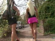 Two German Lesbian Teens Lick Outside