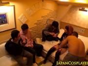 Nippon costume babe cumsprayed in gangbang