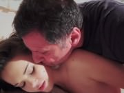 Old Young Amazing BIG TITS girl fucks old man cums in her mouth hardcore