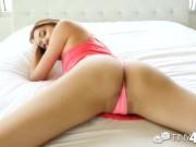 Tiny4K Brace face Kristina Bell fucked by huge dick