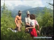 mountain DP with german teen