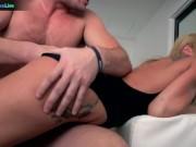 Sexy blonde Amy Brooke in a kinky wild hardcore sex