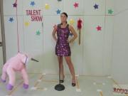 Blonde teen threesome blowjob Talent Ho
