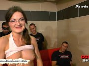 Nerdy librarian Manu is back for more cock Sperm -  Extreme Bukkake