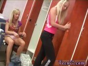 Teen cook Young lesbos having joy in locker