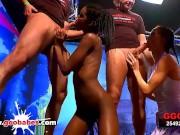 Ebony babe Zara Skinny Aymie and Mia Bitch in huge german Ogy