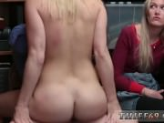 Police strap on xxx blonde euro model first