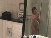 042 - Bathroom shower and orgasm with toys