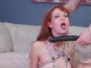 Extreme throated gagging Slavemouth Alexa